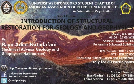 INTRODUCTION OF STRUCTURAL RESTORATION FOR GEOLOGY AND GEOPHYSICS